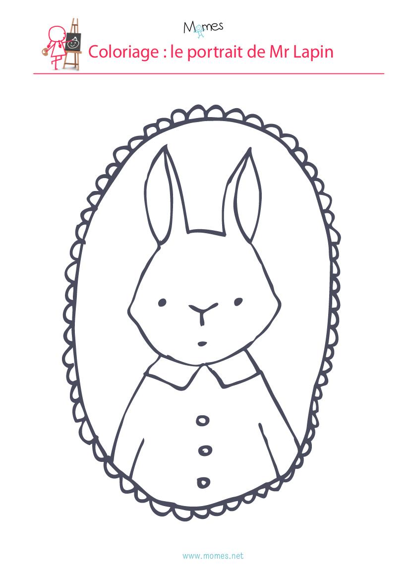 coloriage lapin de paques