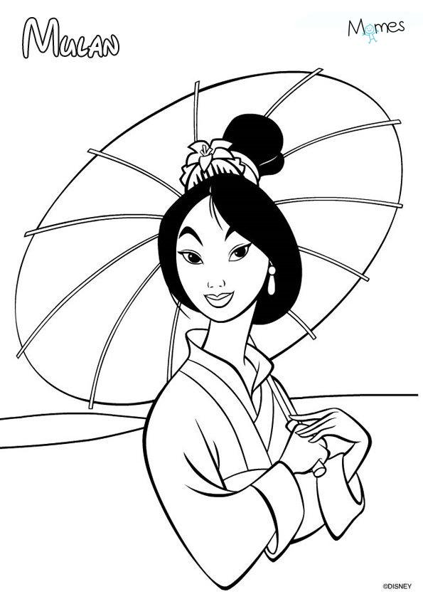 Coloriage Mulan