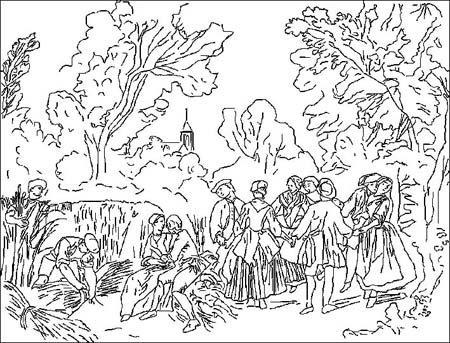 Coloriage Nicolas Lancret (1690-1743)