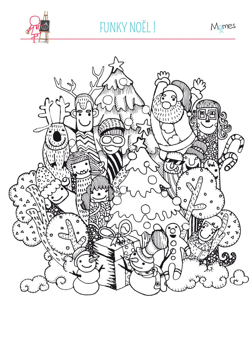 Coloriage no l funky - Noel coloriage ...