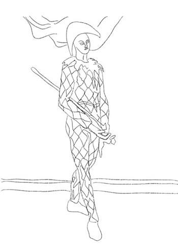 Coloriage Paul En Arlequin.Coloriage Paul Cezanne Momes Net