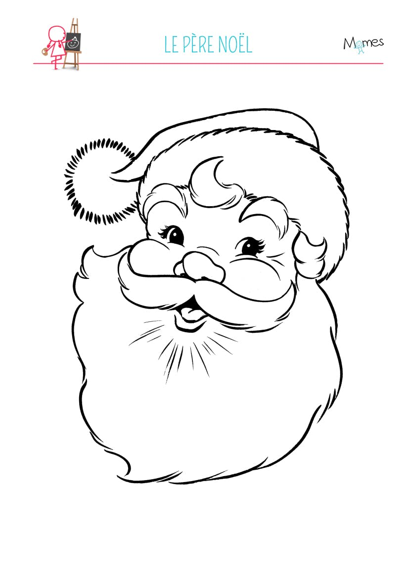 Coloriage p re no l - Image pere noel a colorier ...