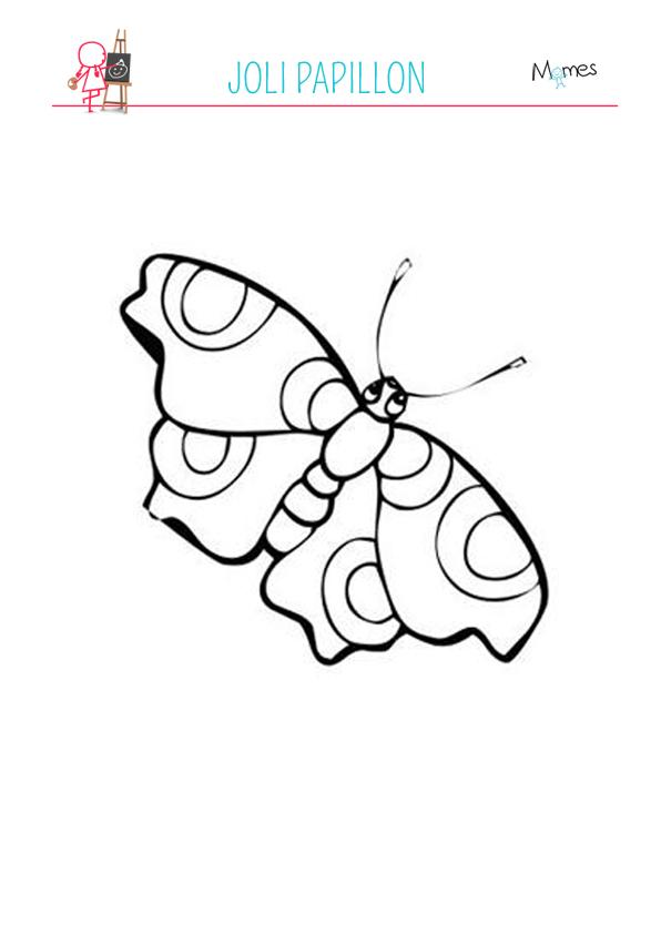Coloriage Famille Papillon.Coloriage Petit Papillon Momes Net