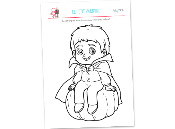 Coloriage Petit Vampire Momes Net