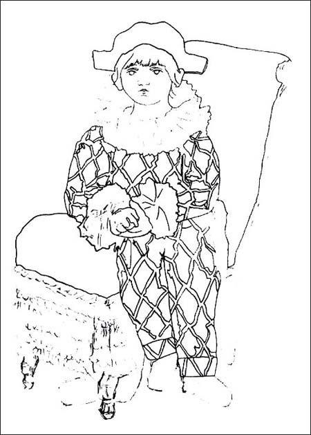 Coloriage Picasso (2)