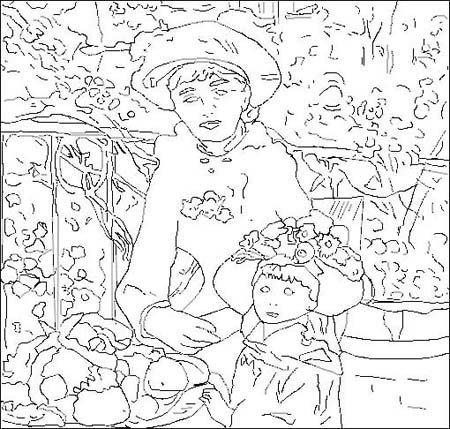 Coloriage Pierre-Auguste Renoir