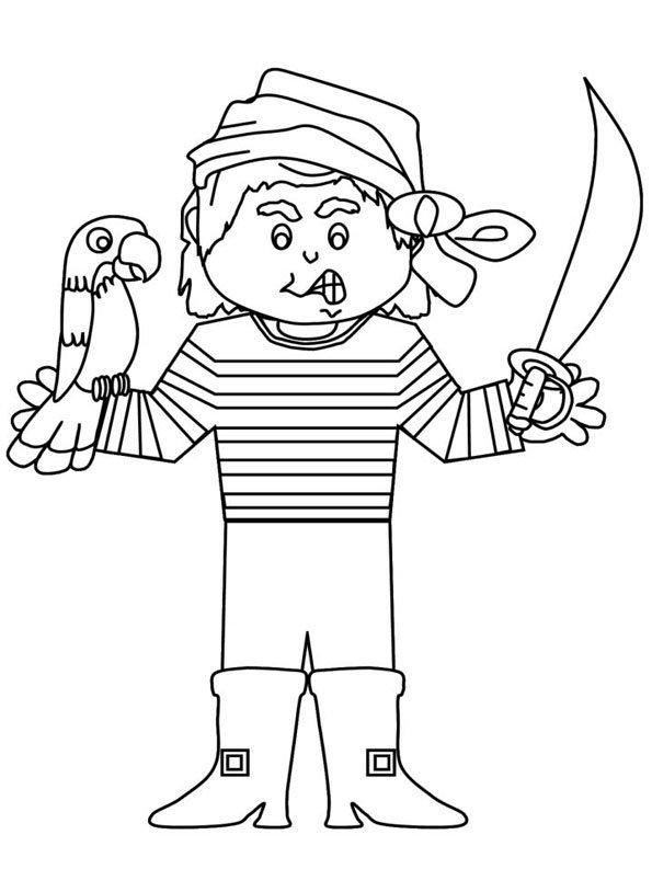 Coloriage pirates 8 - Coloriage pirate fille ...