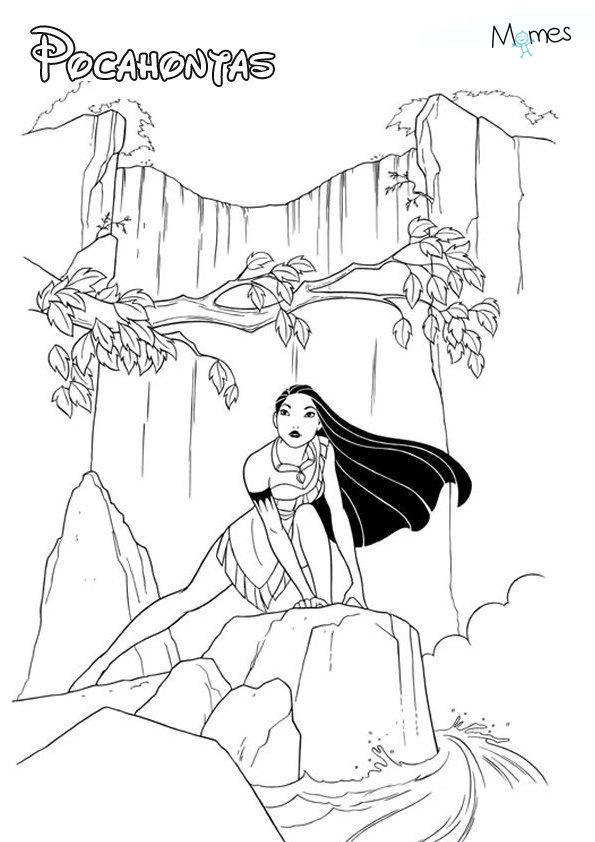 Coloriage pocahontas - Musique de dessin anime walt disney gratuit ...