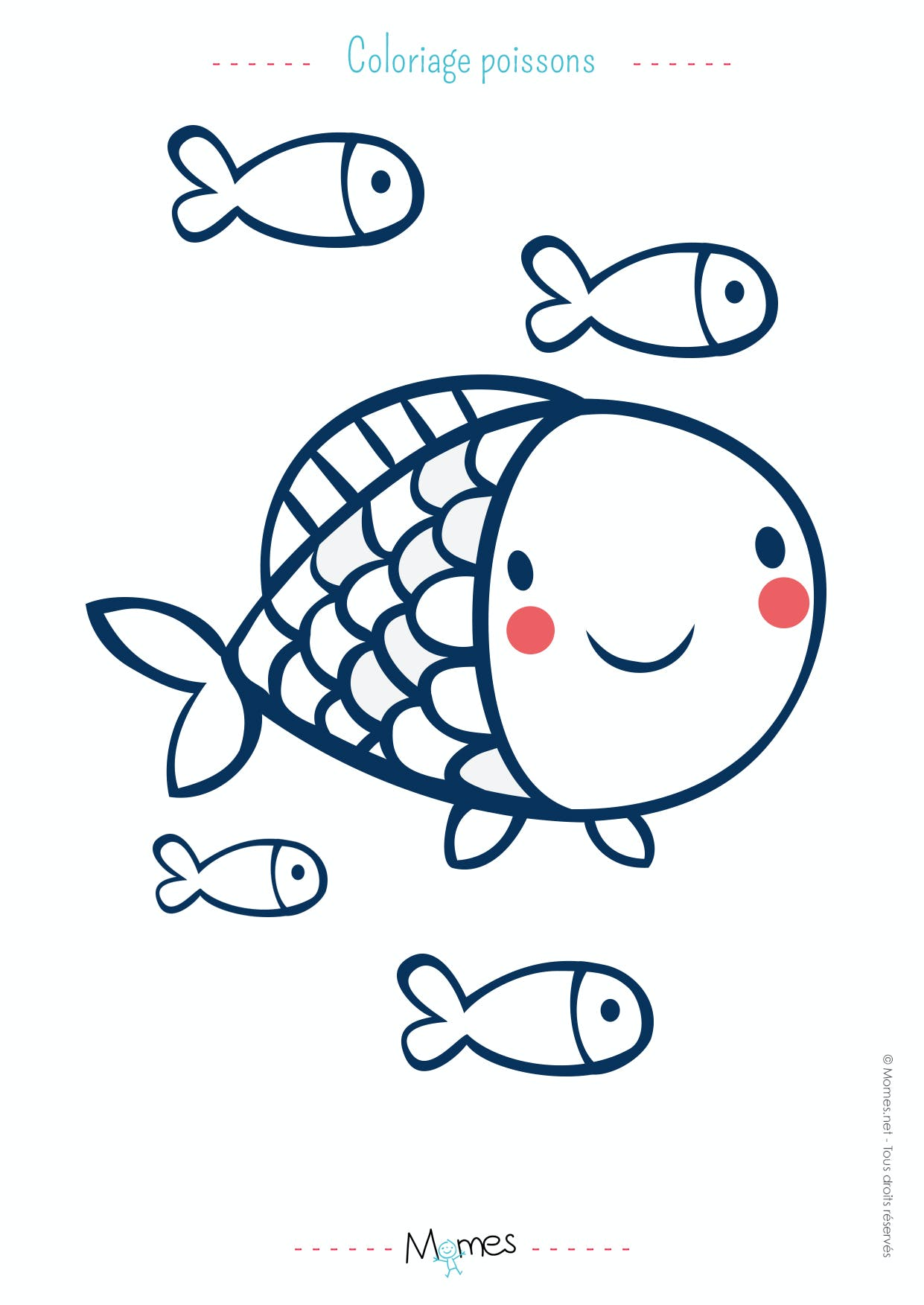 Coloriage poisson d'avril