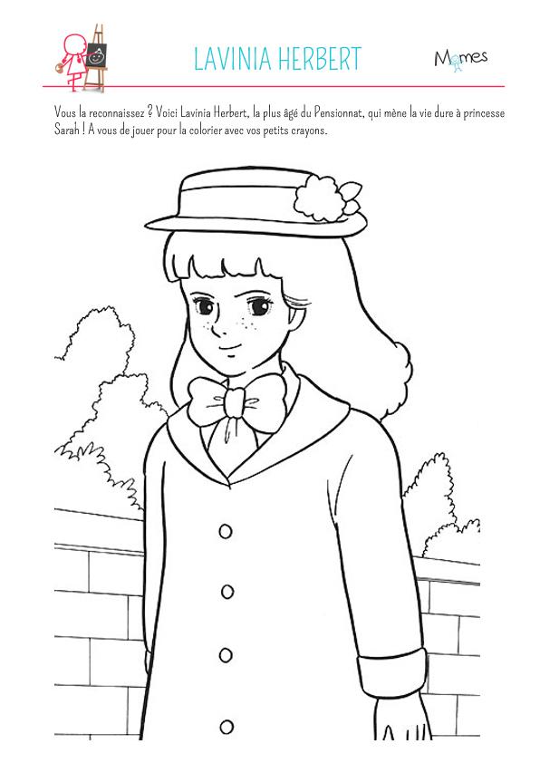 Coloriage princesse sarah lavinia - Dessin anime de princesse sarah ...