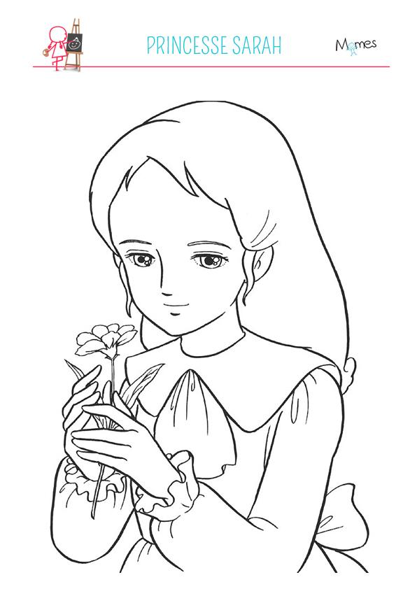 Coloriage Princesse Sarah Momes Net