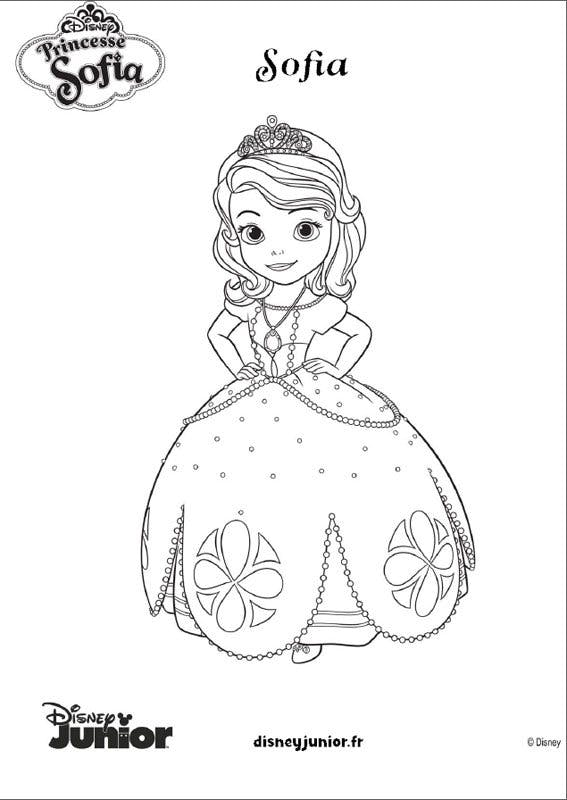 Coloriage princesse sofia 7 - Coloriages princesse ...