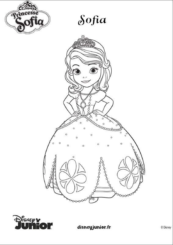 Coloriage princesse sofia 7 - Coloriage kinder ...