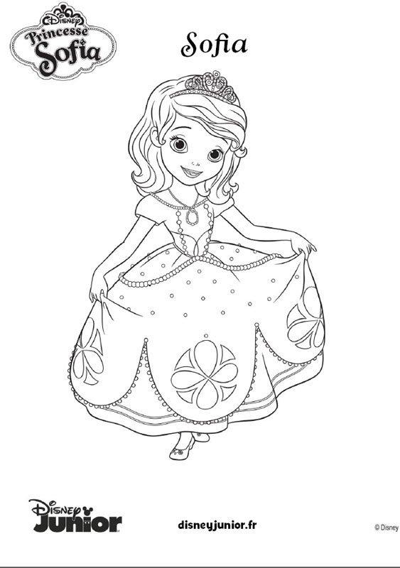coloriage princesse sofia 9 - Coloriage Princesse Sofia