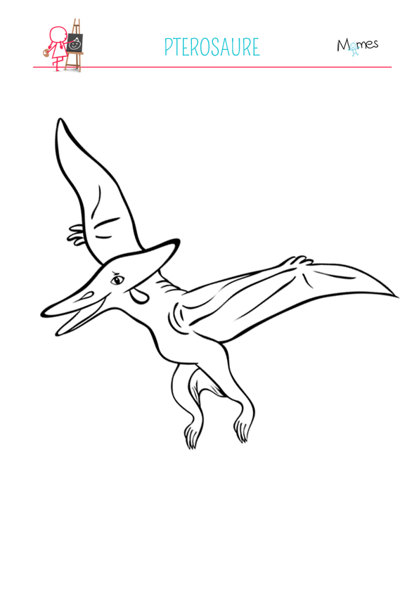 Coloriage Pterosaure