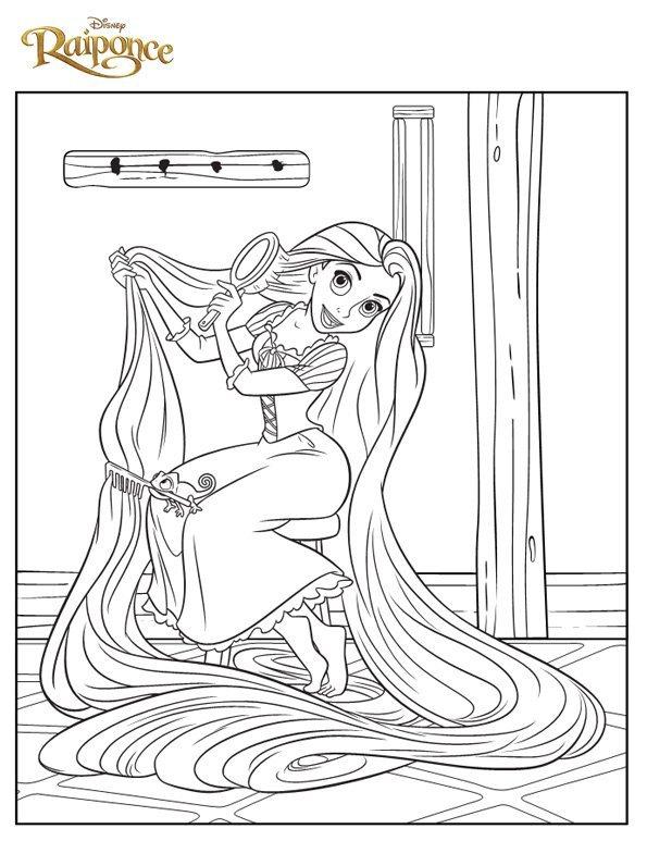 Coloriage raiponce 4 - Coloriage princesse ariel ...
