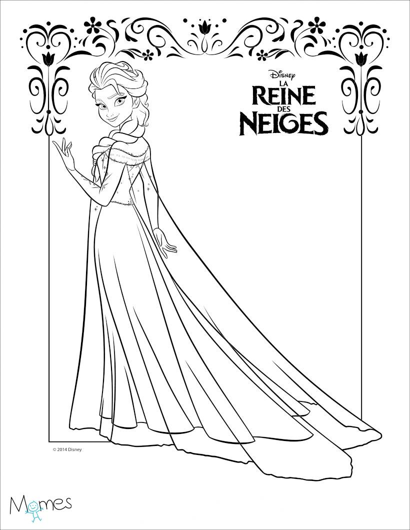 Coloriages La Reine Des Neiges Coloriage Princesse Momes Net