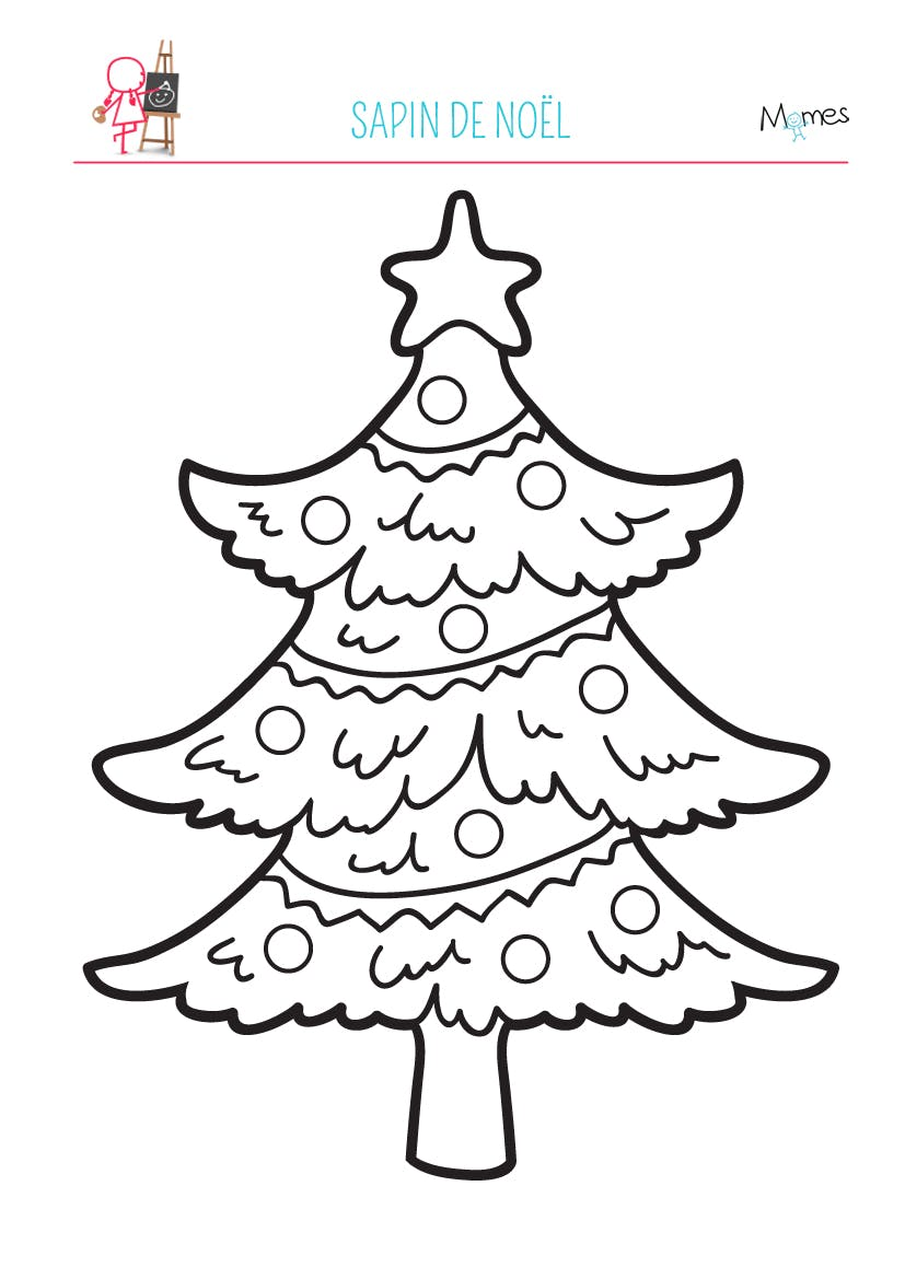 Coloriage sapin de no l - Noel coloriage ...