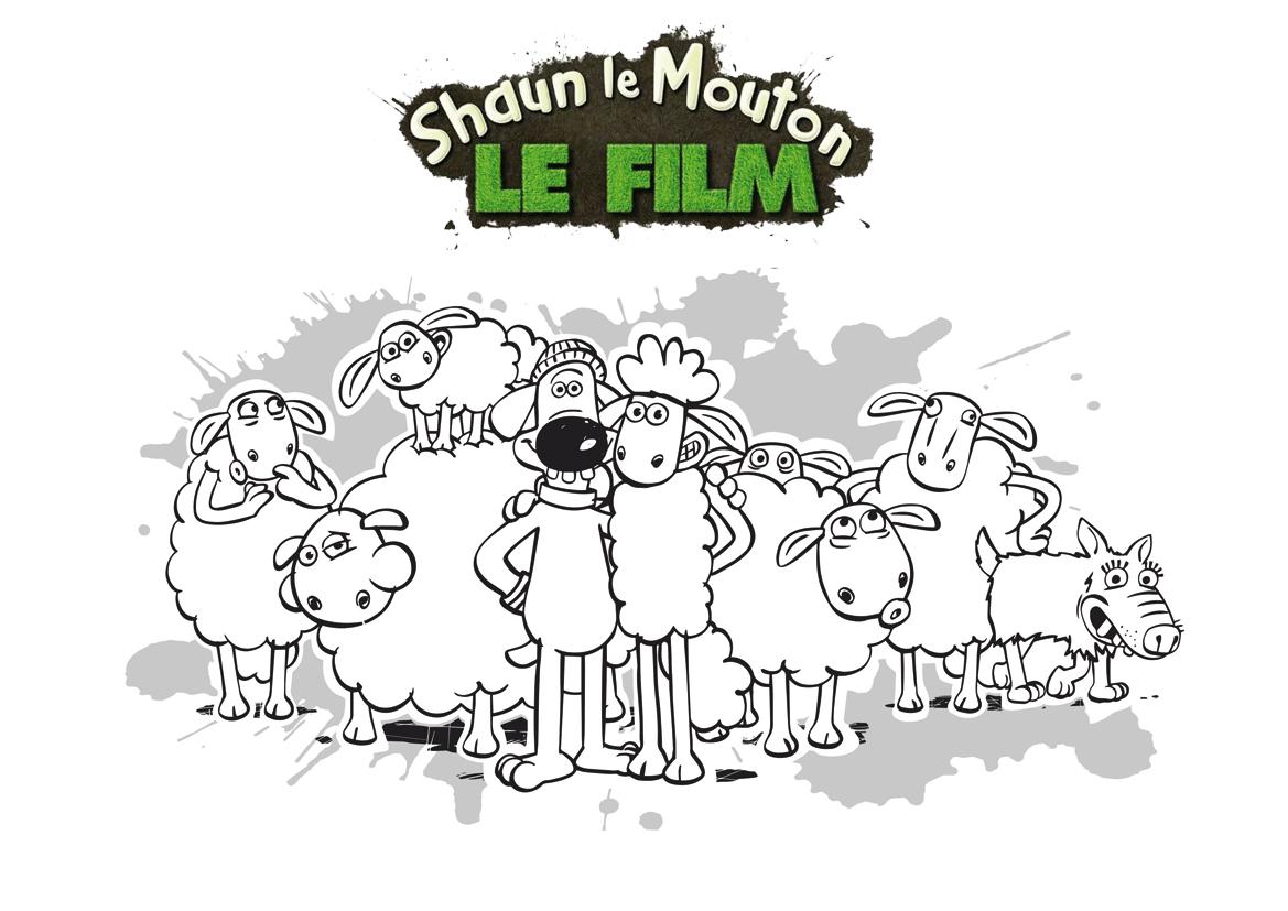 Coloriage Shaun et ses amis