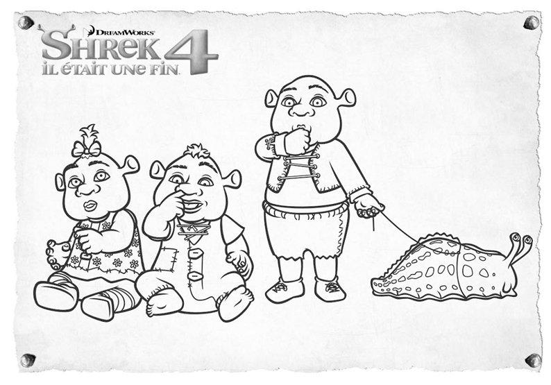 Coloriage Shrek Les Bebes De Shrek Momes Net