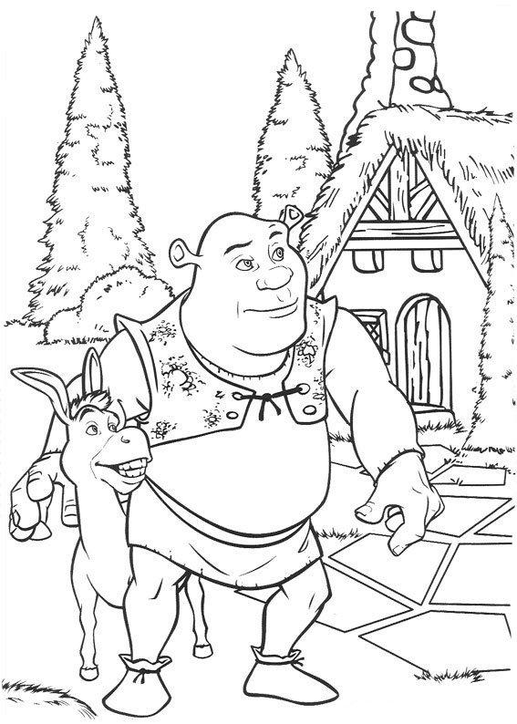 Coloriage Shrek: Shrek et l'Âne