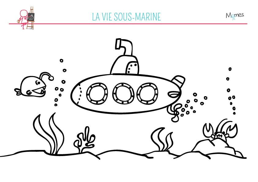 Coloriage Sous-marin