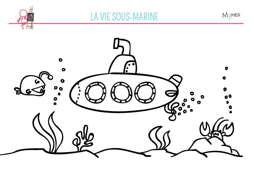 Coloriage sous marin - Dessin sous marin ...