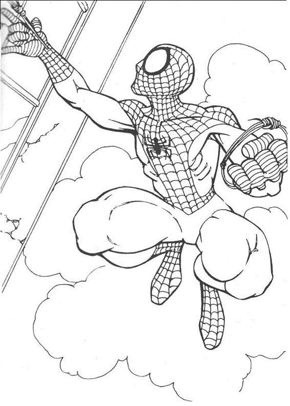 Coloriage spiderman 1 - Spider man en dessin ...