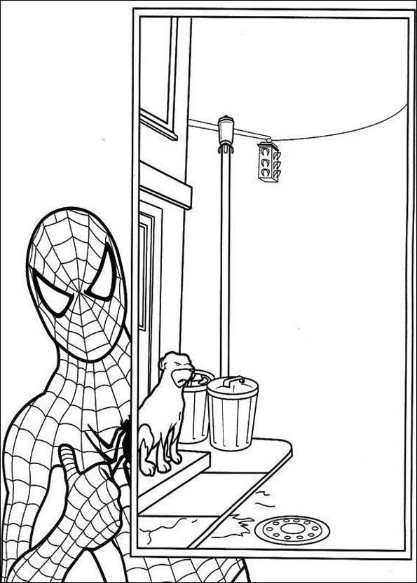 Coloriage spiderman 10 - Dessins animes spiderman ...