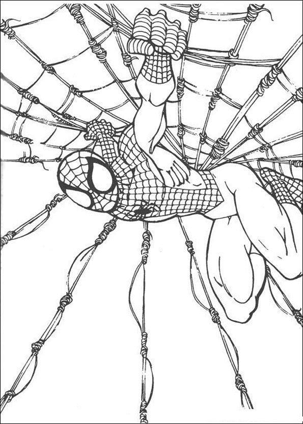 Coloriage spiderman 11 - Dessins animes spiderman ...