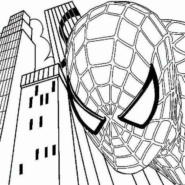 Coloriage spiderman 12 - Dessin de heros ...