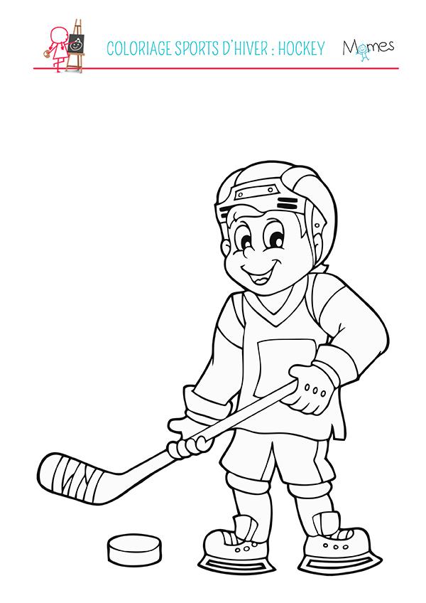 coloriage sports d 39 hiver le hockey. Black Bedroom Furniture Sets. Home Design Ideas