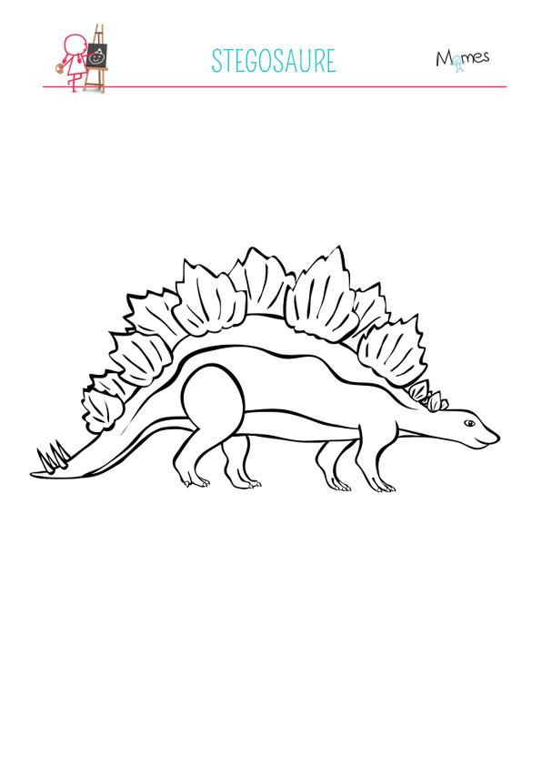 Coloriage Stegosaure Momes Net