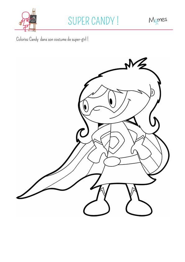 Coloriage super candy - Super hero dessin ...
