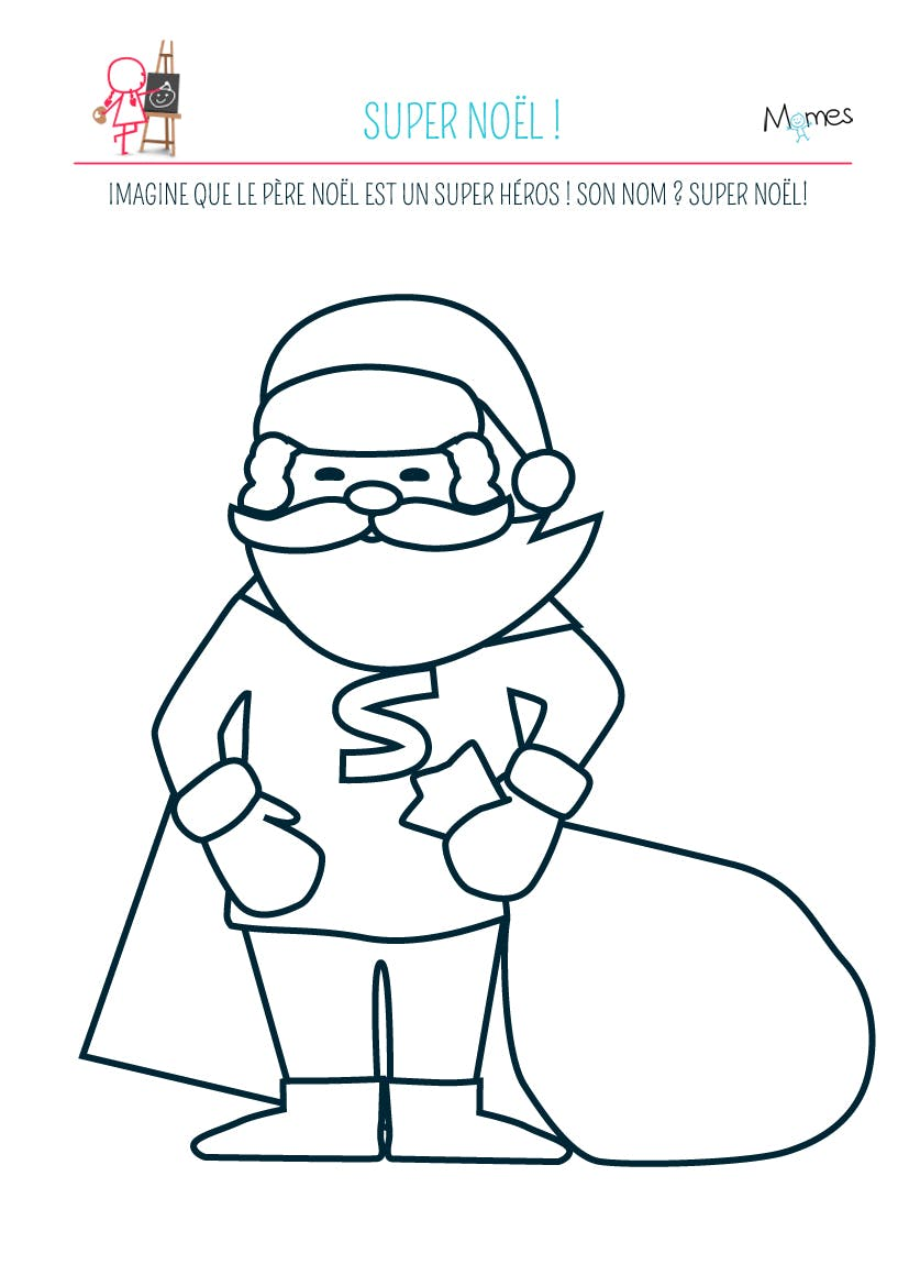 Coloriage Super Noel
