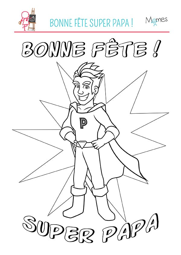 coloriage super papa