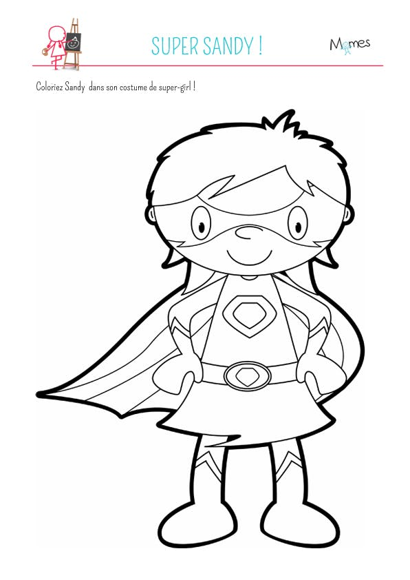 Coloriage super sandy - Dessin de super hero ...