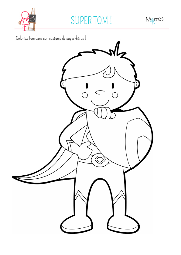Coloriage super tom - Super hero coloriage ...
