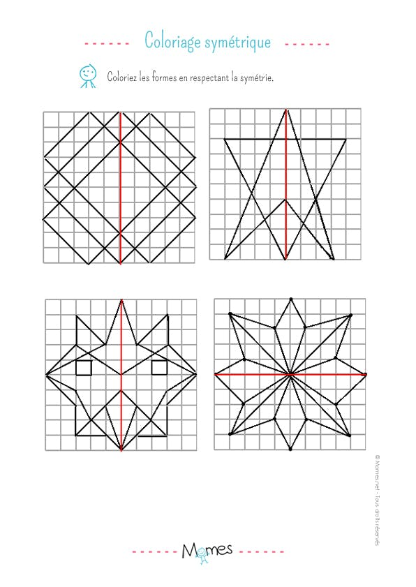 Coloriage sym trique exercice - Coloriage symetrie ...