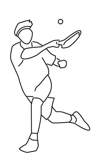 Coloriage tennis (3)