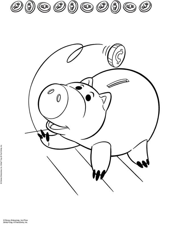 Coloriage Toy Story - Cochon