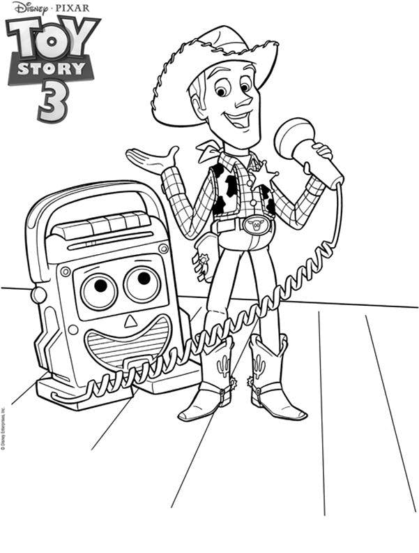Coloriage toy story woody - Coloriage de toy story 3 ...