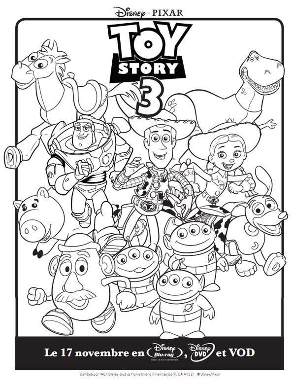Coloriage toy story - Coloriage pixar ...
