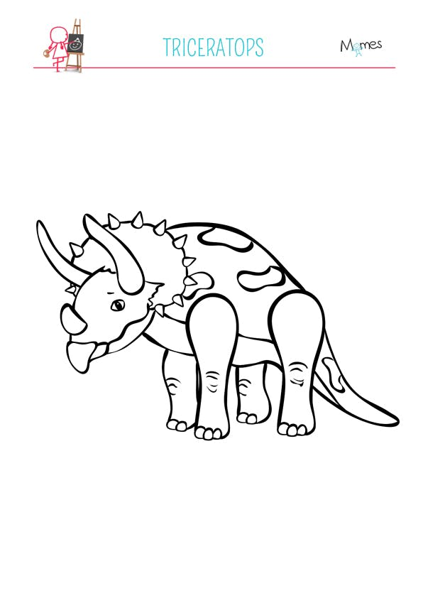 Coloriage Dinosaure Triceratops.Coloriage Triceratops Momes Net