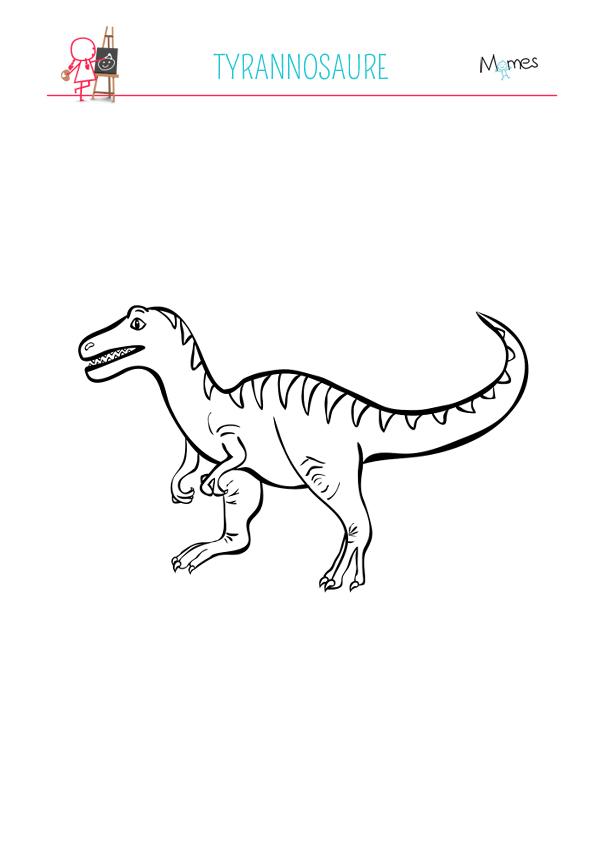 Coloriage Tyrannosaure