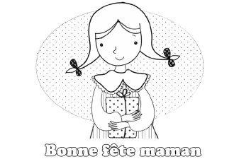 Coloriage Cadeau Fete Des Meres.Coloriage Un Cadeau Pour Maman Momes Net
