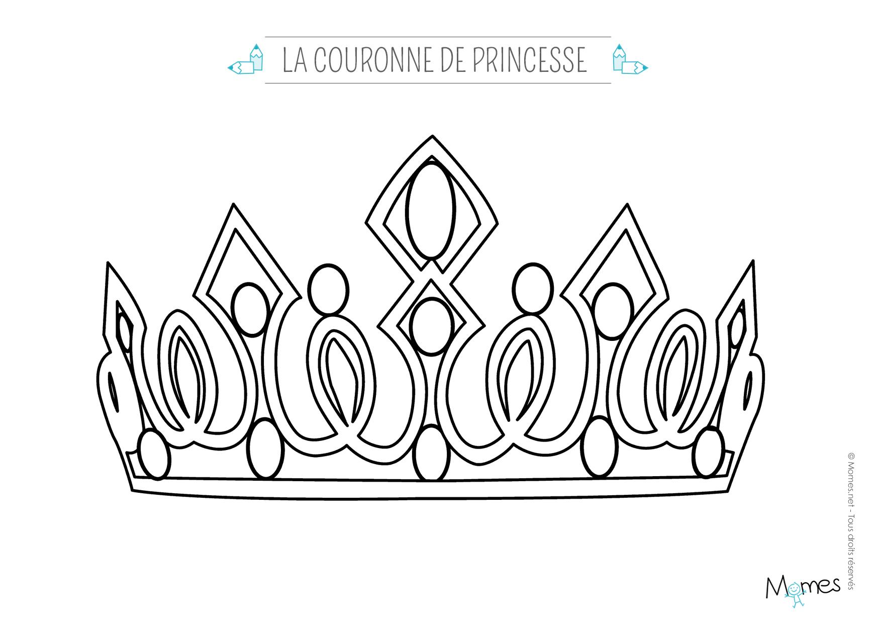 Exceptionnel Coloriage une couronne de princesse - Momes.net XR15