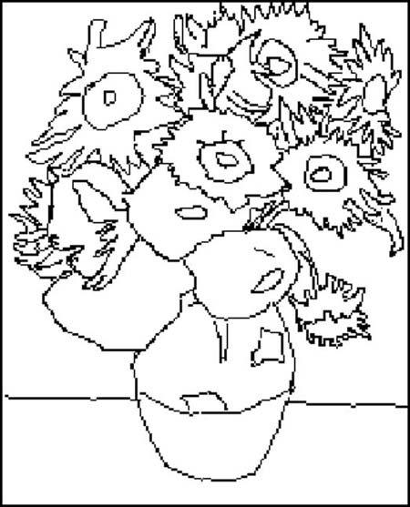 Coloriage Van Gogh (2)