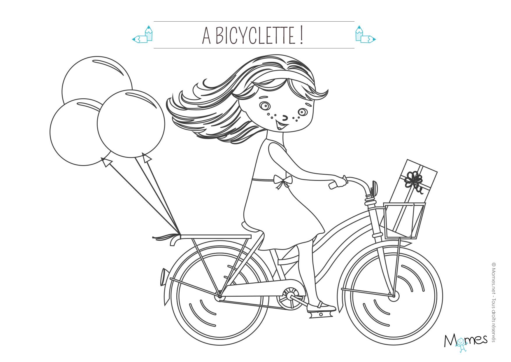 Coloriage A Imprimer Velo.Coloriage La Bicyclette Momes Net