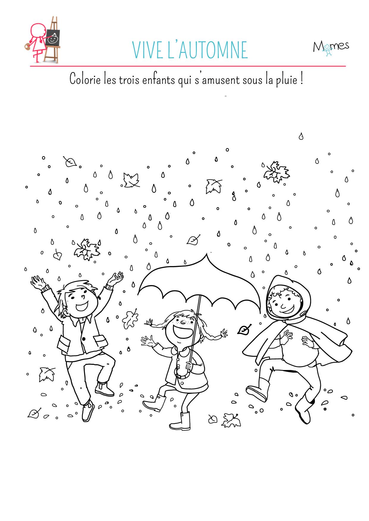 coloriage à imprimer automne enfant